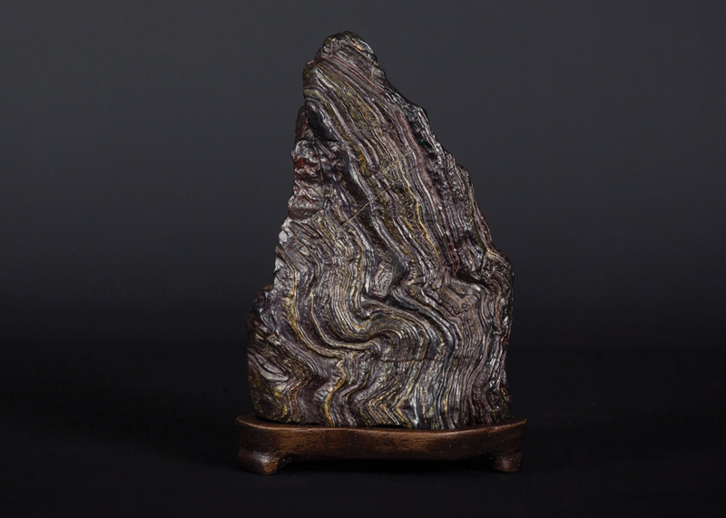 Minamoto no Yoritomo -Fossilized Wood Paul Gilbert Collection